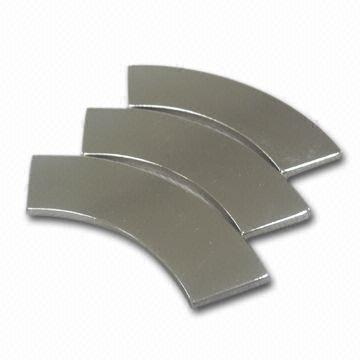 Thin arc motor magnet